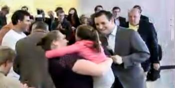 'Your World Is On Fire': Ted Cruz Shouts Insane Rhetoric At Terrified Little Girl In New Hampshire