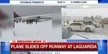 Delta Flight Skids Off La Guardia Airport Runway