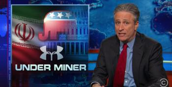 Stewart Hammers 'F**king Cuckoo' Republicans Over Iran Letter