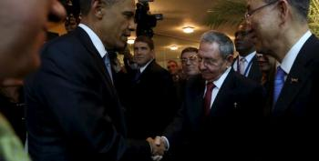 Obama And Castro Shake Hands, Will Possibly Meet In Private Talks