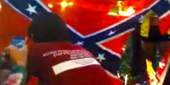 Students Protest Racist Cops In Florida By Burning Confederate Flag