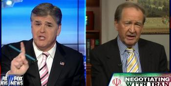 Watch Pat Buchanan School Hannity On Iran