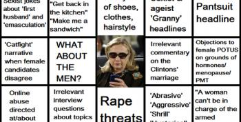 Open Thread -  Anti-Clinton Sexism Bingo!