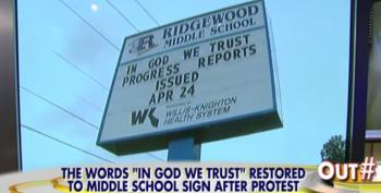 Public School Wins The Battle To Keep 'In God We Trust' Marquee