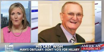 Fox News Praises Man's Dying Wish: Don't Vote For Hillary