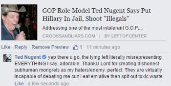 Progressives Are Subhuman Mongrels For Quoting Ted Nugent Verbatim