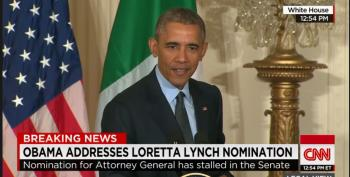 Obama Rips Senate Over Loretta Lynch Vote Delay