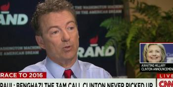 Rand Paul Repeats Debunked Benghazi Lies To Attack Hillary Clinton