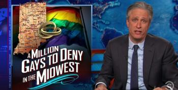 Jon Stewart Rips Supporters Of Indiana RFRA Law For Comparing Gay People To The KKK And Hitler