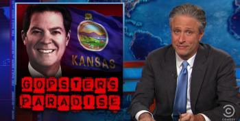 Jon Stewart Wonders How The 'Welfare Queens' Running Kansas Would Like A Taste Of Their Own Medicine