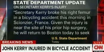 John Kerry Breaks Femur In Bicycle Accident