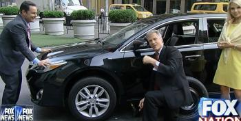 Fox Hosts Try To Change A Car Tire As Part Of A 'Manhood Test' And Fail Hilariously