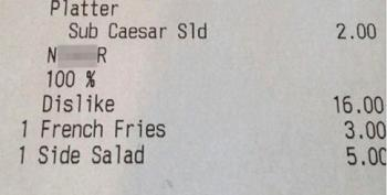 Black Customer Gets Receipt From New Orleans Restaurant With A Side Of Racism: 'Ni**er'