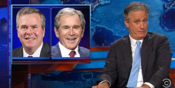 Jon Stewart Slams Jeb Bush For Name-Dropping W. On Foreign Policy