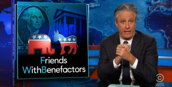Jon Stewart Whacks Fox For Obsessing Over Clinton Charity While Ignoring Billionaire Bucks