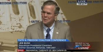Jeb Bush Brags About Interfering In Schiavo Case At Conservative Conference