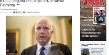 Russian State Newspaper Decries McCain's Call For 'Invasion Of FIFA'