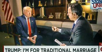 Tapper Stumps Trump: 'What's Traditional About Being Married Three Times?'