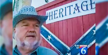 Texas Man Bolts 6-foot Wooden Confederate Flag On Wall Across From County Courthouse
