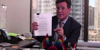 Colbert: 'Hard To Believe Gays Achieved Personhood Just 5 Years After Corporations Did'