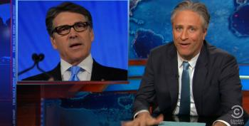 Jon Stewart Celebrates Rick Perry's Entrance Into The 2016 Clown Car