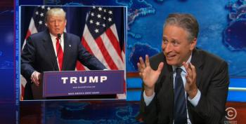 Jon Stewart And Crew 'Orgasmic' Over Trump Announcement