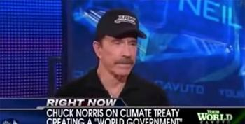 Chuck Norris Promotes Crazy Theory That Hillary Clinton Will Use Massive Voter Fraud