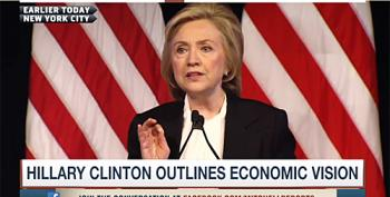 Hypocritical Press Doesn't Cover Hillary Clinton's Economic Speech