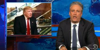 Jon Stewart Admits He Can't Stop Watching 'Blowjob-a-Coaster' Donald Trump