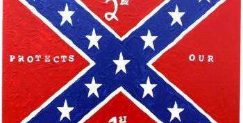 George Zimmerman Paints Confederate Flag To Prove He Loves America