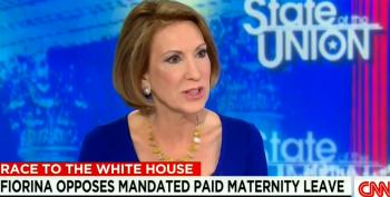 Carly Fiorina Opposes Paid Maternity Leave Mandate