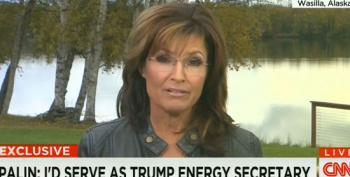 Palin Wants To Lead Trump's D.O.E. So She Could Get Rid Of It