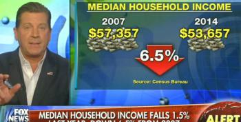 Fox Yakkers Complain About Median Household Income Falling Under Obama