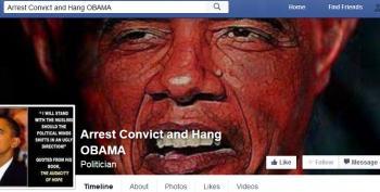 Conservative Facebook Group Calls For Hanging President Obama