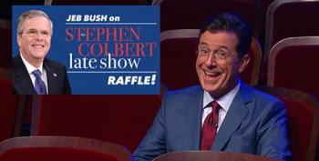 Stephen Colbert Zings Bush For Trying To Fundraise Off Of His Show