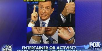 Fox 'News' Outraged That Colbert Wore 'Black Lives Matter' Wristband