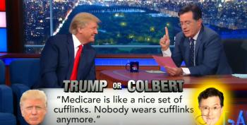 Stephen Colbert Plays A Game Of 'Trump Or Colbert' With Donald Trump