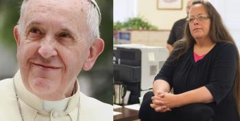 So Apparently The Pope Met With Kim Davis