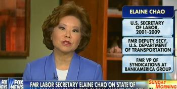 Fox Allows Elaine Chao To Omit The Damage Her Husband Has Done To The U.S. Economy