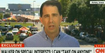 Walker Punts On Question About Taking On Koch Brothers