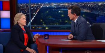Hillary Clinton Talks Bad TV, The GOP Field And Bank Regulations With Colbert