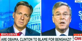 Tapper Calls Out Jeb: You Blame Clinton For Benghazi But Say Brother Is Blameless For 9/11