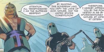 Conservatives Freak Out When Black 'Captain America' Takes On Extremist Border Vigilantes