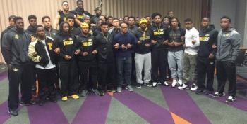 Mizzou Football Players Join Campus Racial Protest