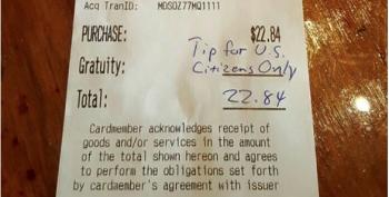 Redondo Beach Man Stiffs Waitress, Says Tips For 'U.S. Citizens Only'