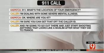 Oklahoma Man Shot After Telling 911 He Would Shoot 'Anything That Looks Like A Muslim'