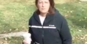 Angry Woman Harangues Praying Muslims, Throws Hot Coffee