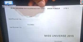 Awkward Moment At Miss Universe Pageant When Wrong Winner Announced