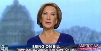 Carly Fiorina Would Never Exploit Her Gender For Political Gain