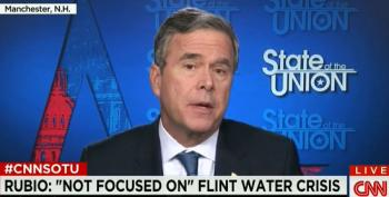 Jeb! Pretends Rick Snyder Is 'Stepping Up' In Flint Water Crisis